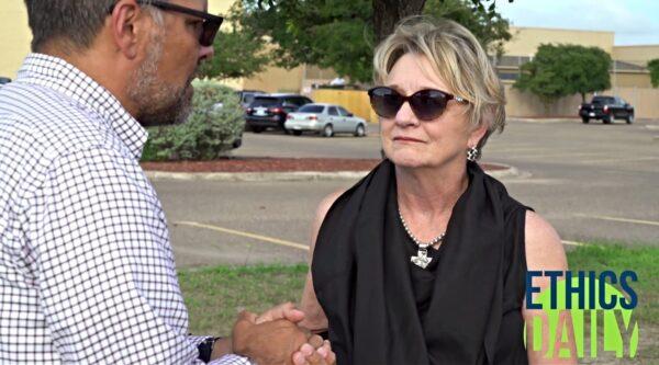 Suzii Paynter being interviewed by Mitch Randall