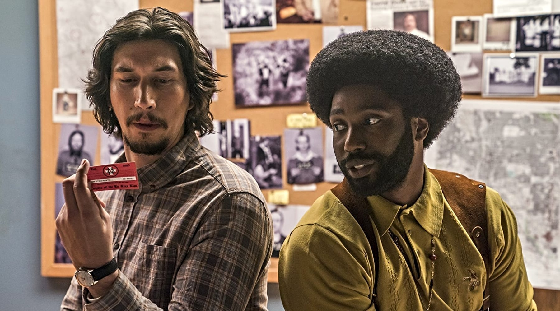 "Adam Driver, left, and John David Washington star in ""BlacKkKlansman,"" a new film from director Spike Lee. (Photo: Focus Features)"