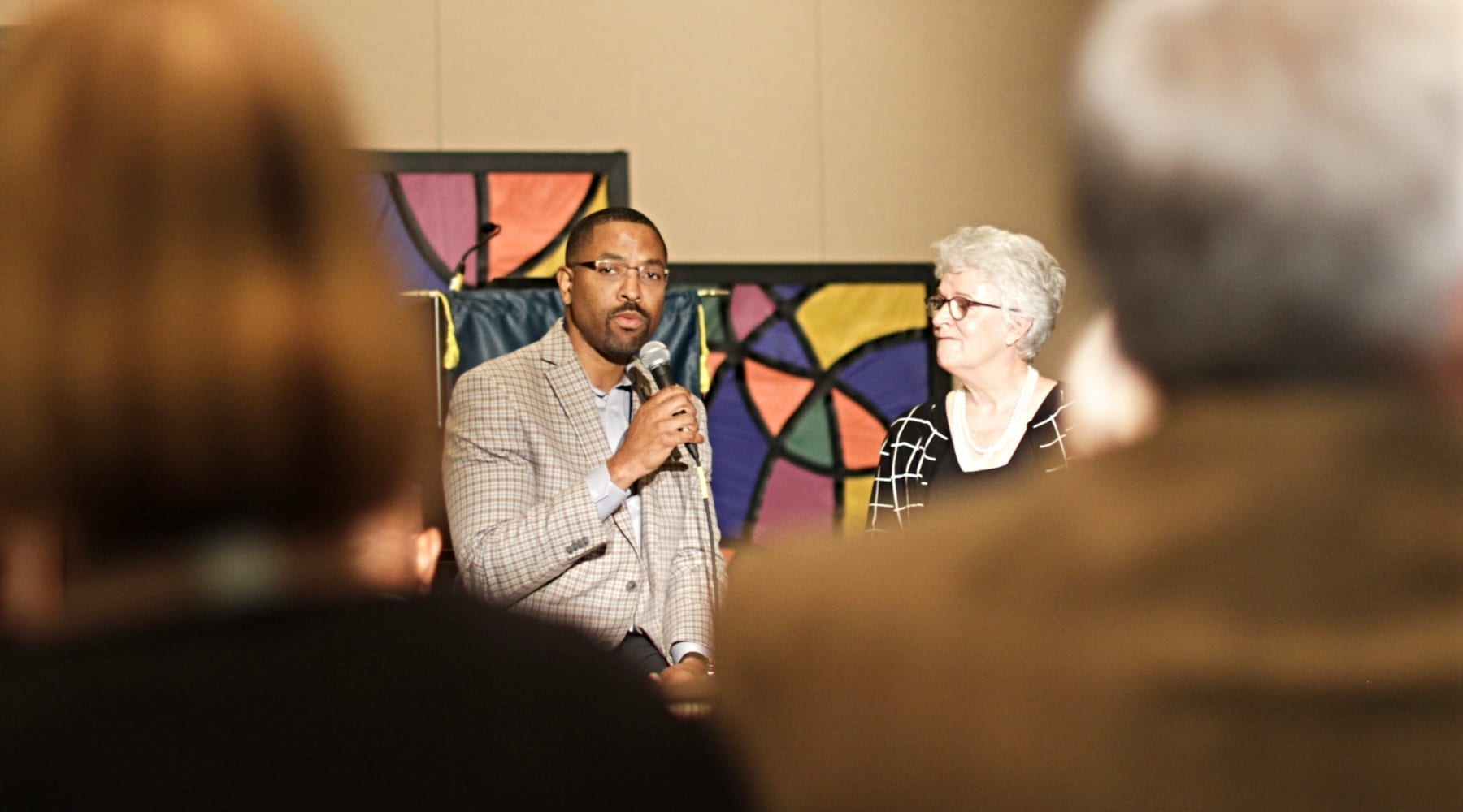"""Corey Walker and Linda McKinnish Bridges share about their """"covenant of action"""" at the New Baptist Covenant 2018 summit."""
