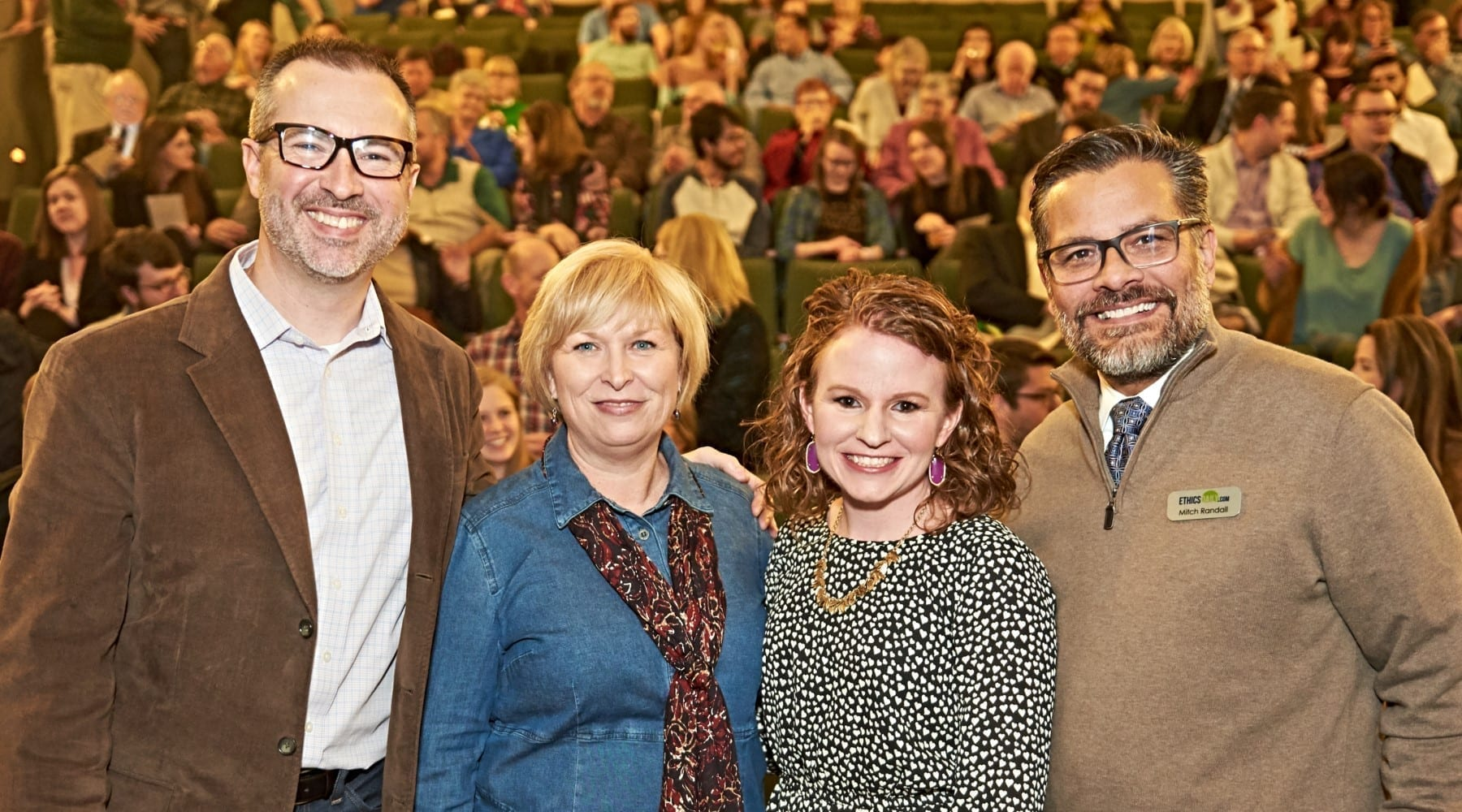 """At the premiere of """"No. 1: Mary Alice"""" at the Mayborn Museum at Baylor University: (l-r) Cliff Vaughn, Pam Durso, Mary Alice Birdwhistell, Mitch Randall (Photo: Emmitt Drumgoole)"""