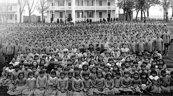 Native American pupils at Carlisle Indian Industrial School circa 1900