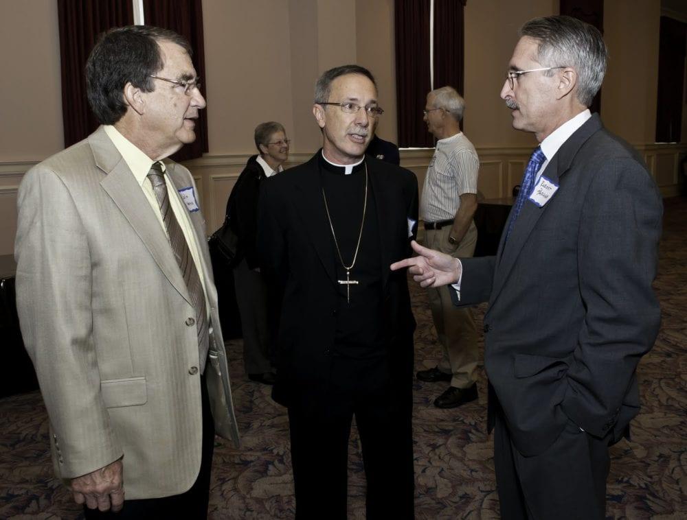 Robert Parham (1953-2017) of EthicsDaily.com (right).