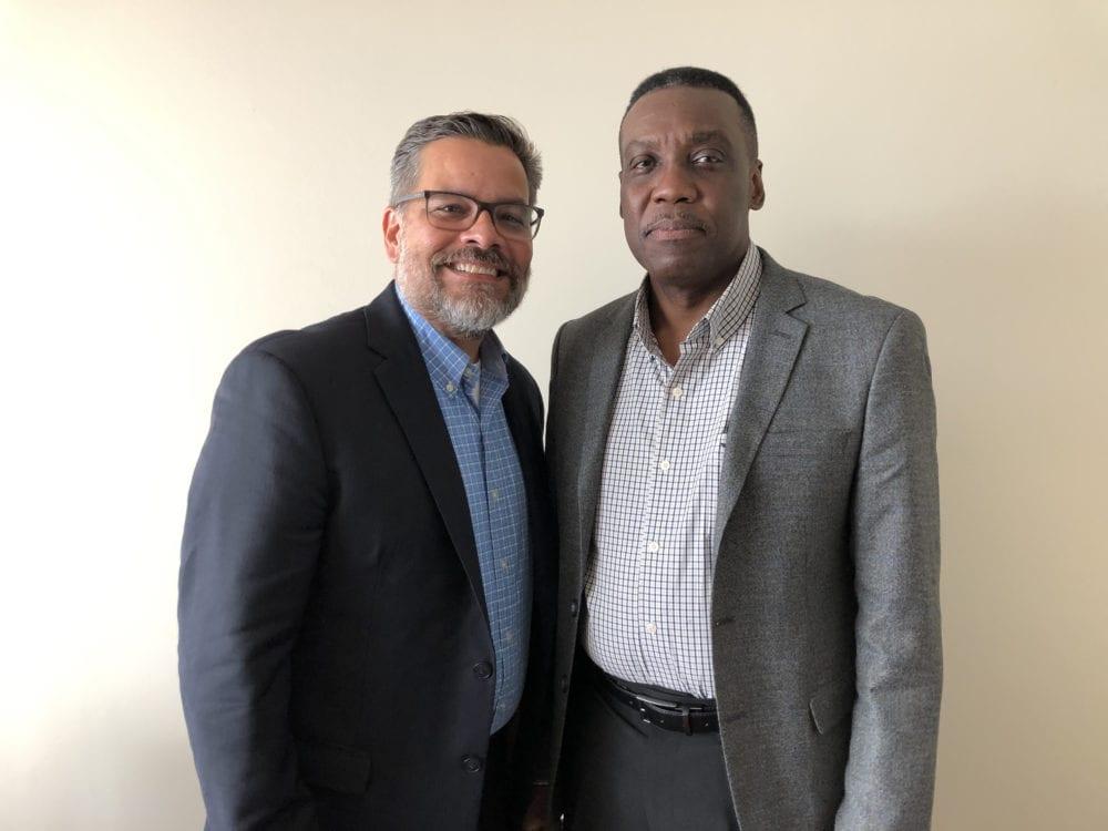 Mitch Randall of EthicsDaily w/ Anselm Warrick of Trinidad & Tobago.
