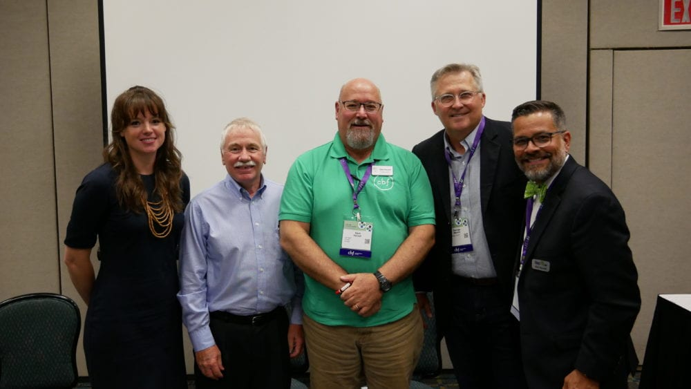 Mitch Randall (right) of EthicsDaily.com with other faith leaders.