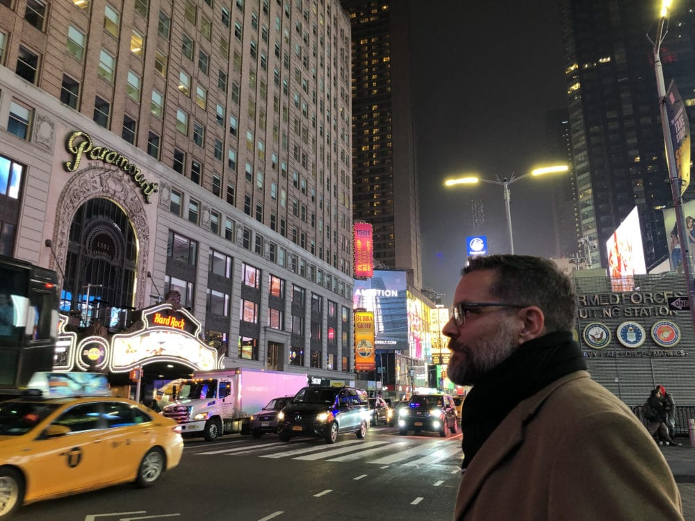 Mitch Randall of EthicsDaily.com in New York City