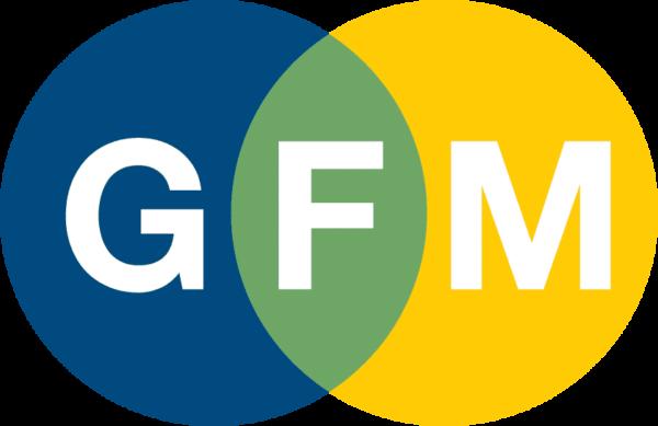 Good Faith Media logo with circles and abbreviation