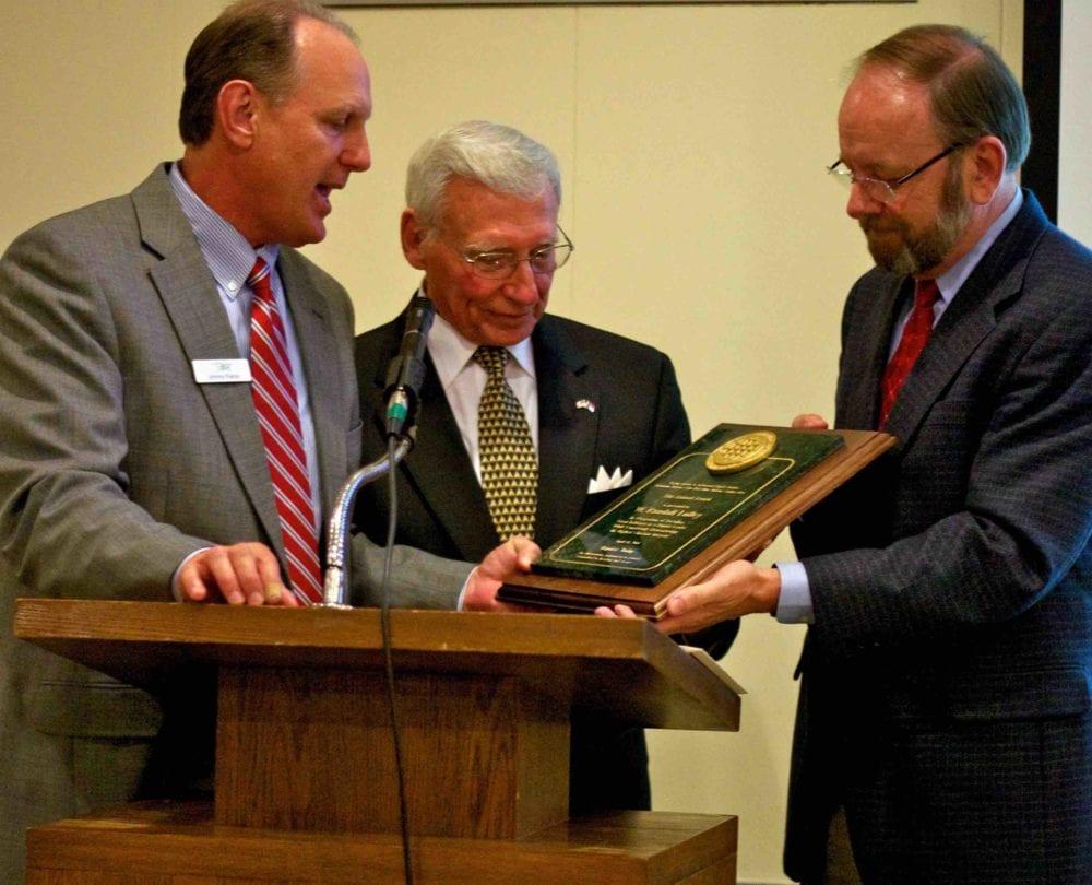 John Pierce of Nurturing Faith presenting Judson-Rice Award.