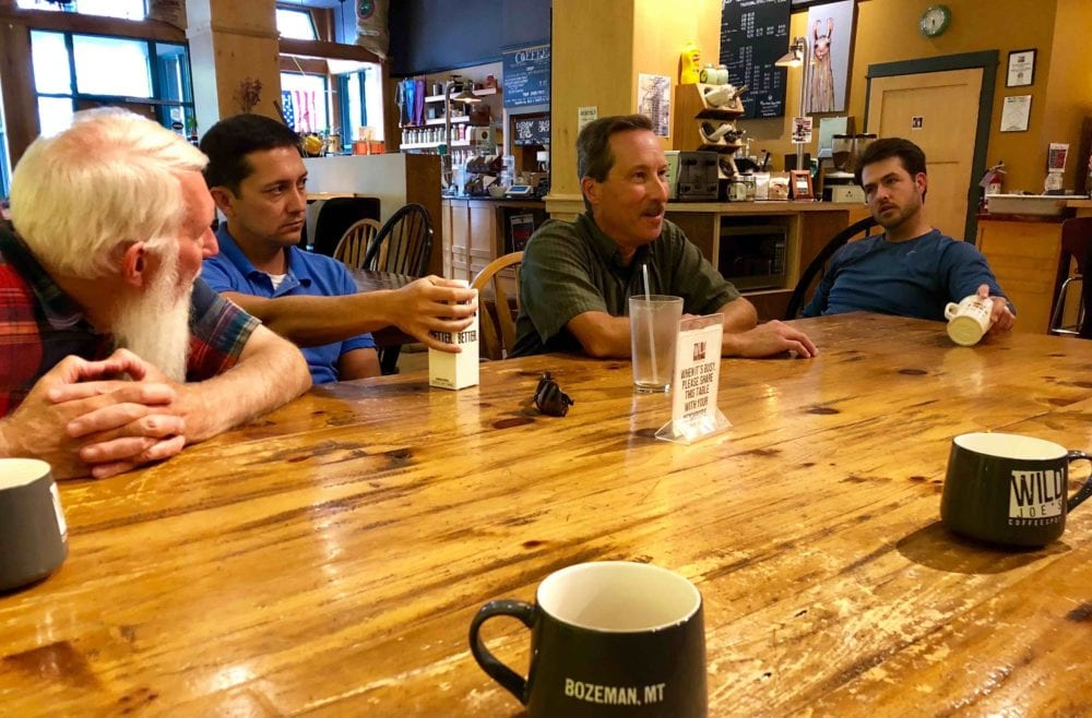 Bruce Gourley (center right) leads a vocational ministry dialogue.