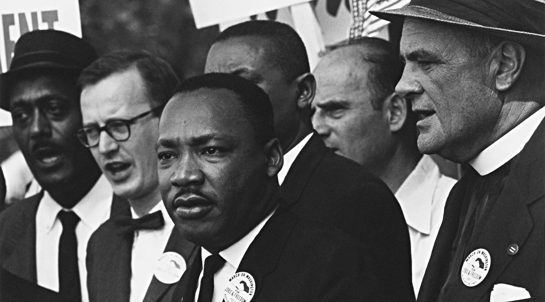 Martin Luther King Jr. at rally