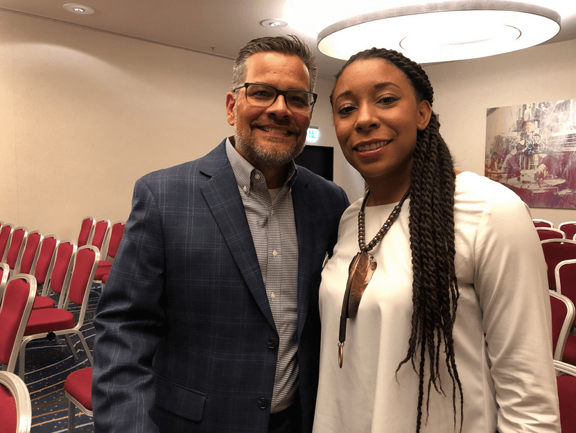 Mitch Randall of EthicsDaily with TaNikka Sheppard of BWNA.
