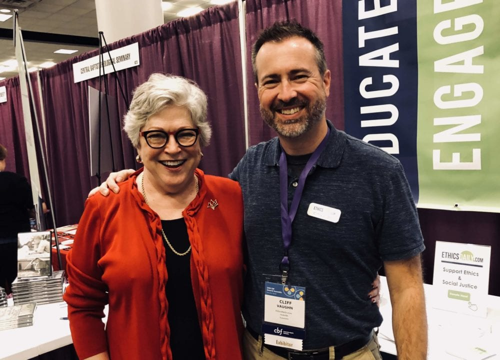 Cliff Vaughn of EthicsDaily with Molly T. Marshall.