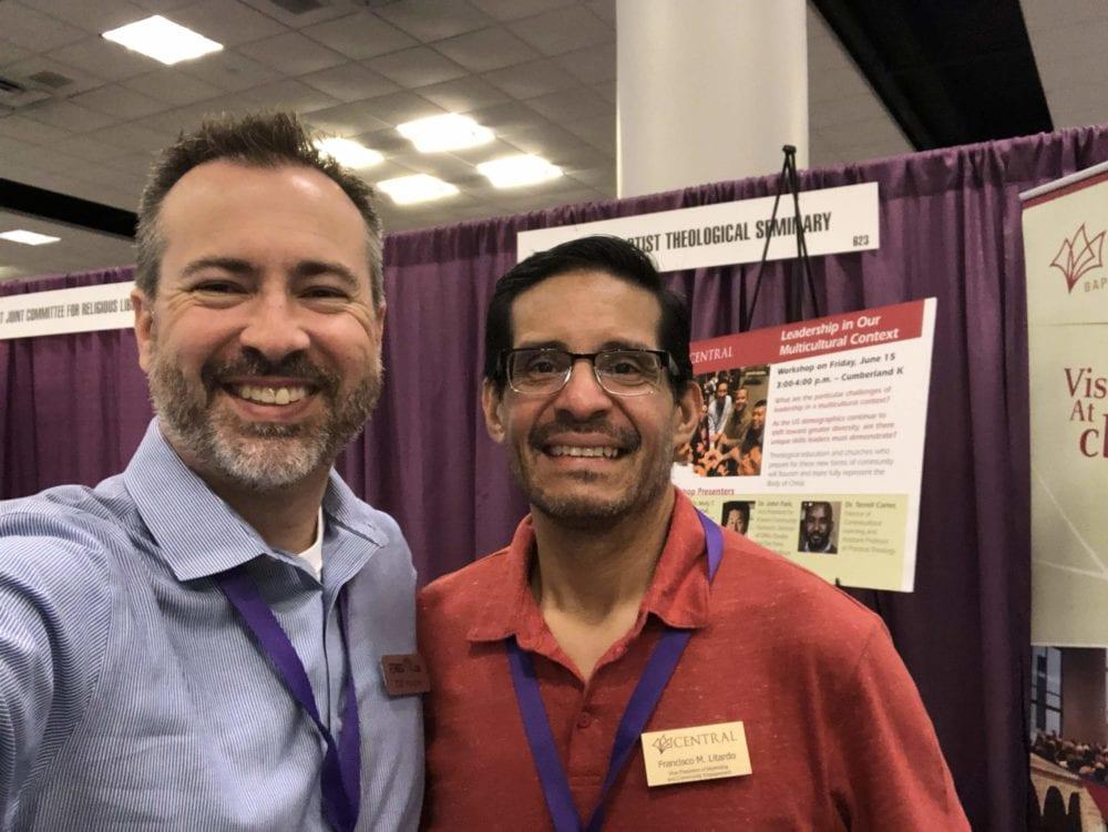 Cliff Vaughn of EthicsDaily with Francisco Litardo of Central Seminary.
