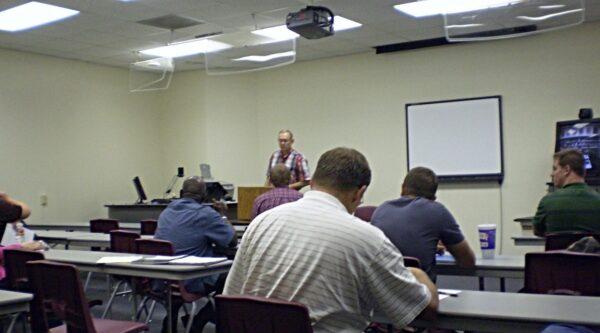 Bill Tillman in classroom
