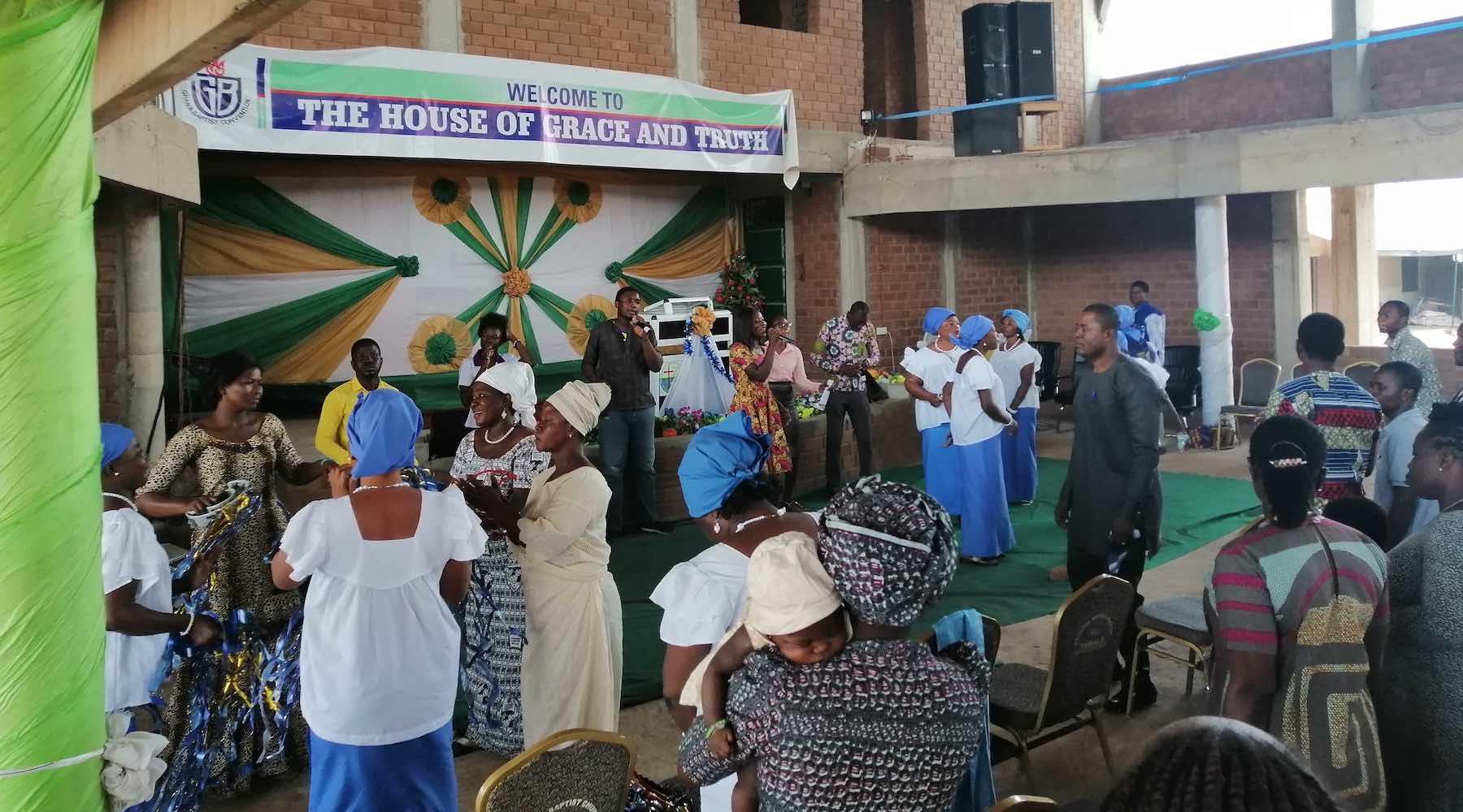 A church gathering in Ghana