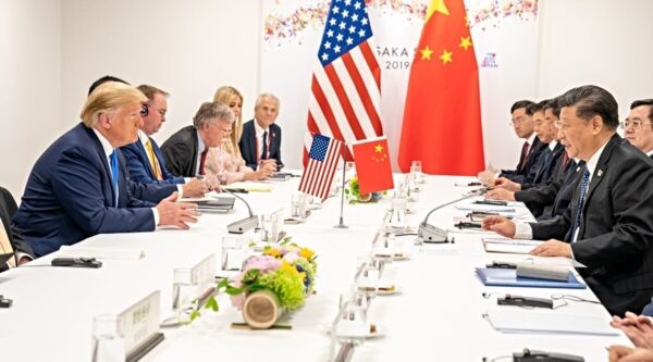 President Donald Trump with China's President Xi